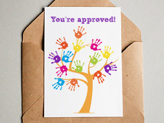 Home adoption card shop cards for recently approved adopters m4hsunfo