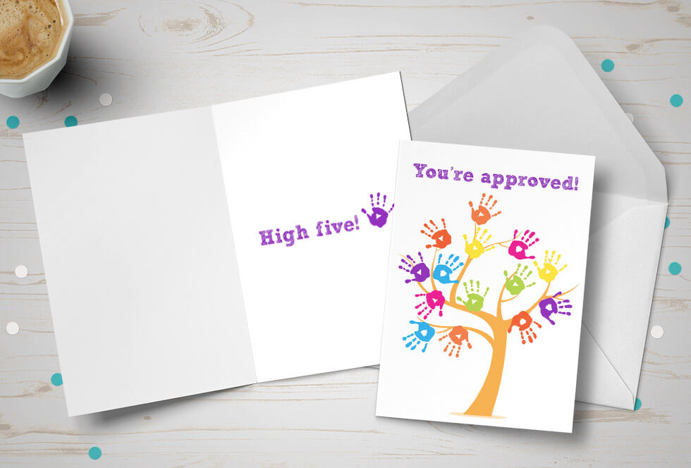 Adoption cards adoption card shop adoption approval card tree made of multicoloured hands m4hsunfo